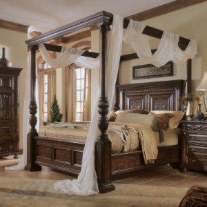 casablanca queen canopy bed